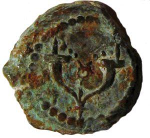 המטבעות שטבע הורדוס היו דומים בסגנונם ובערכם למטבעות החשמונאיים. פרוטת ברונזה ועליה קרני שפע באדיבות איתמר עצמון