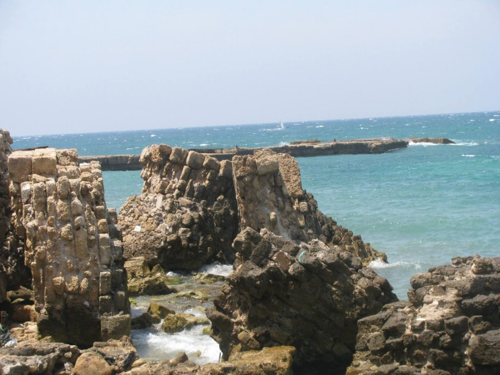 The Herodian pier has been in ruins for centuries, and every winter inflicts further damage