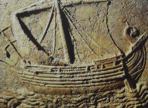 ספינה פיניקית, תבליט על ארון קבורה מהמאה השנייה. צילום: NMB