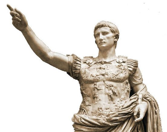 King Herod's patron. Augustus, Julius Caesar's adopted son, succeeded him as ruler of the Roman Empire and established the first Roman imperial dynasty. Augustus of Prima Porta, first century, now in the Vatican Museums