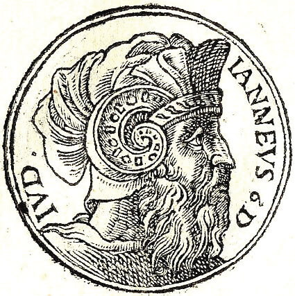 אלכסנדר ינאי. גיליאם רולי, תחריט עץ, מתוך הספר Promptuarii Iconum Insigniorum, צרפת 1553