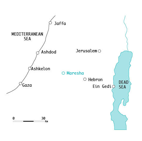 Map locating the Maresha site