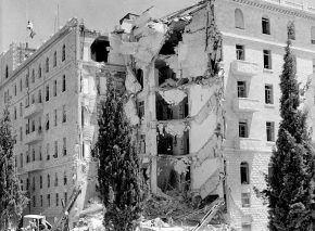 King David Hotel blown up by the Etzel Militia