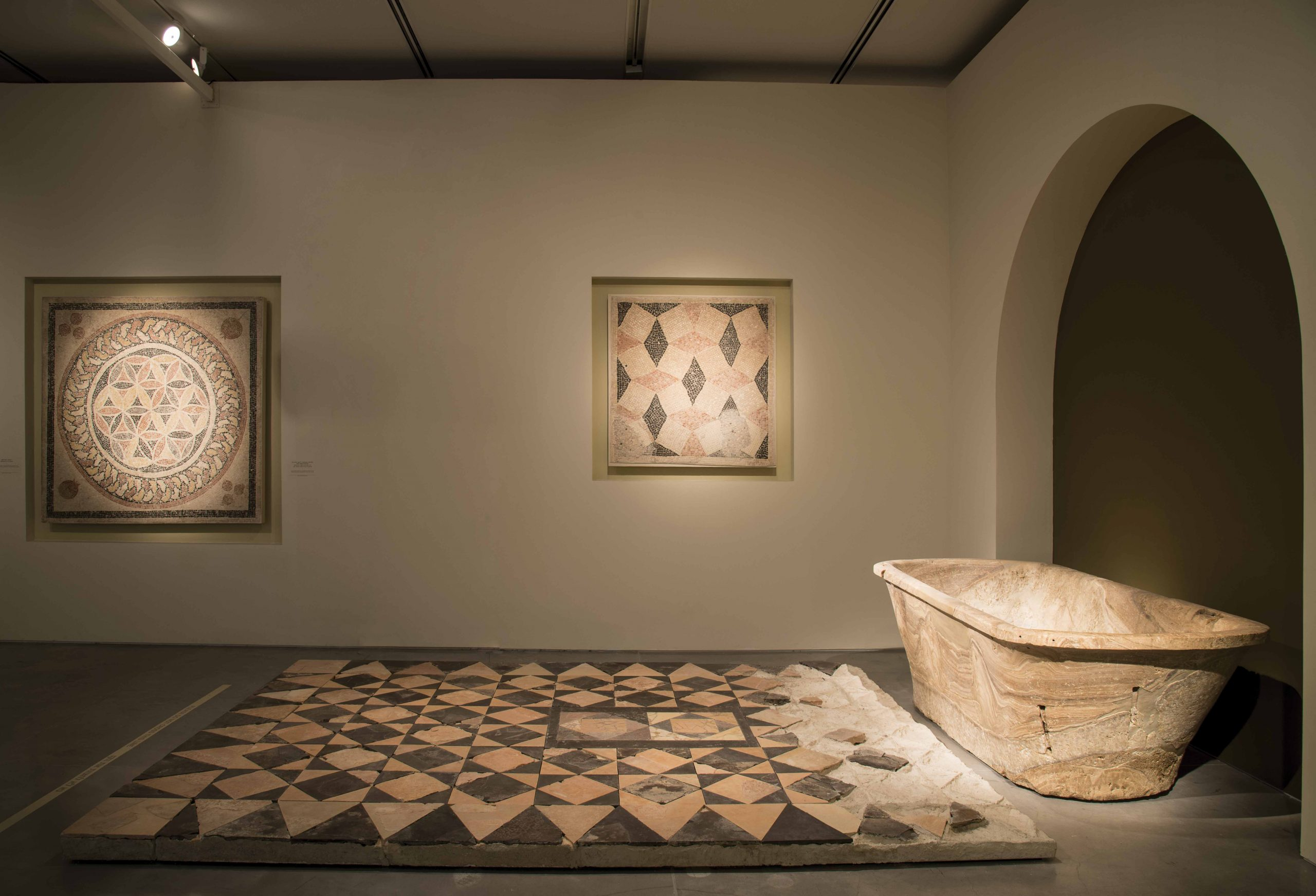Herod the Great: The King's Final Journey, a 2013 exhibition at the Israel Museum, showcased the monumentality and opulence of Herod's building projects, including this reconstruction of an opus sectile floor