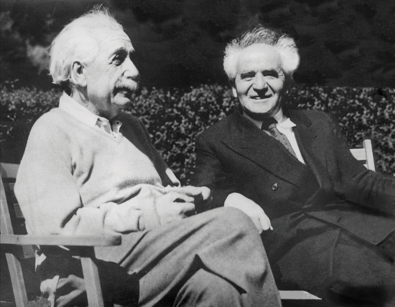 Einstein was very public about his Zionism, although it never became practical. With Ben-Gurion at Princeton, May 13, 1951