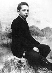 Einstein aged 14 in 1894