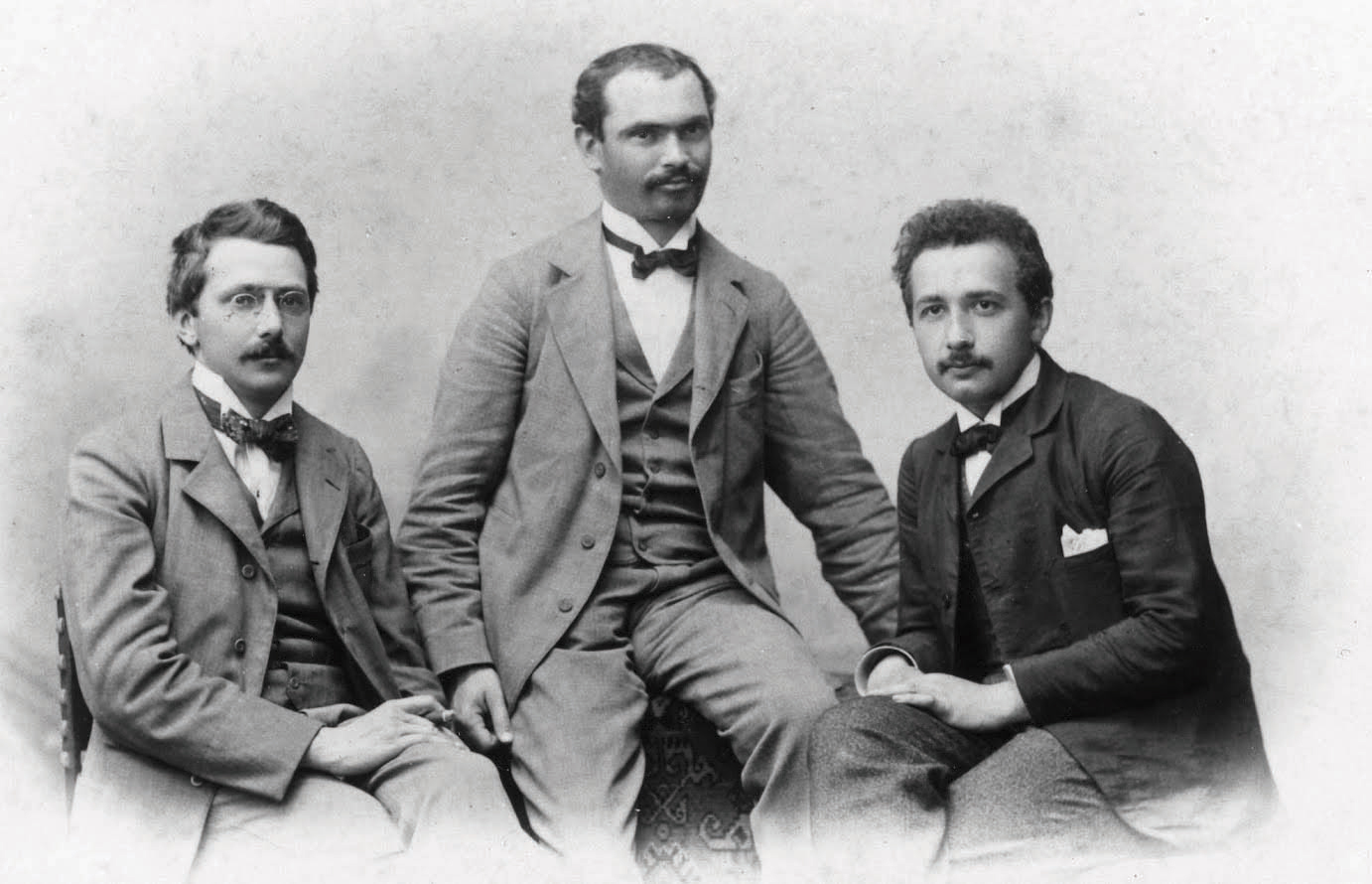 Einstein, Maurice Solovine, and Conrad Habicht, the members of the Olympia Academy, circa 1903