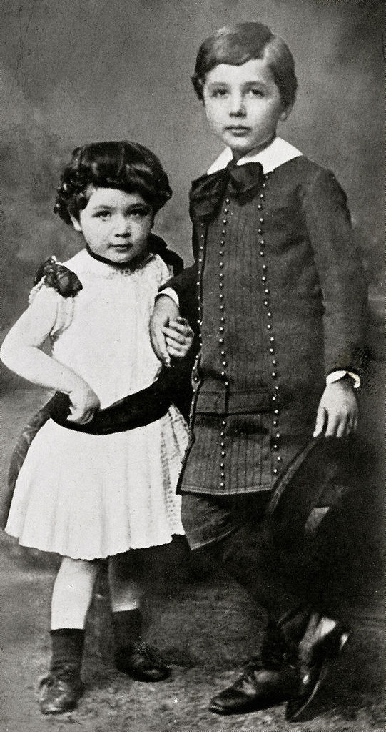 Albert Einstein and his sister Maja, circa 1886