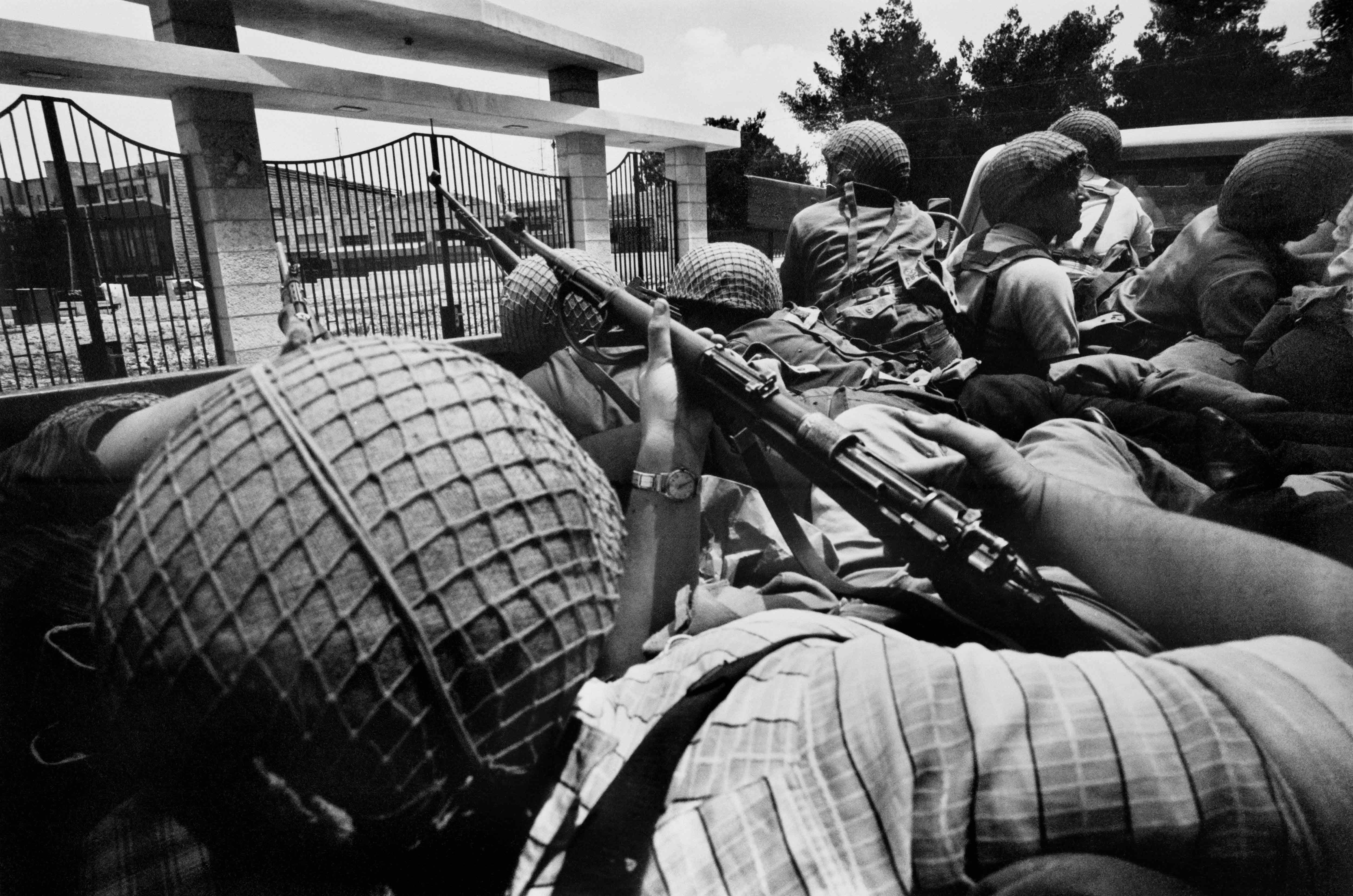 Soldiers in Salah a-Din street, Jerusalem, The Six-Day War, June 1967