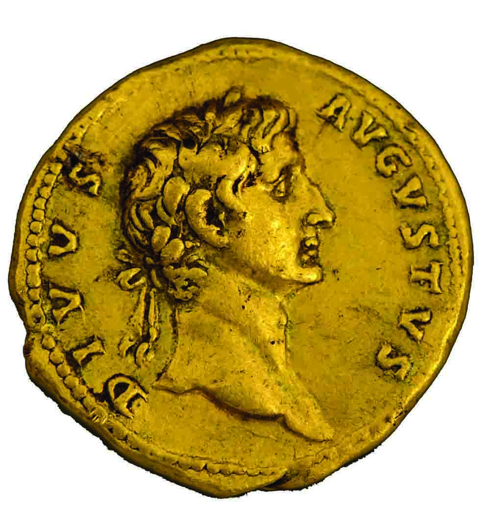 Inset: Trajan or Augustus Caesar? The two sides of the coin