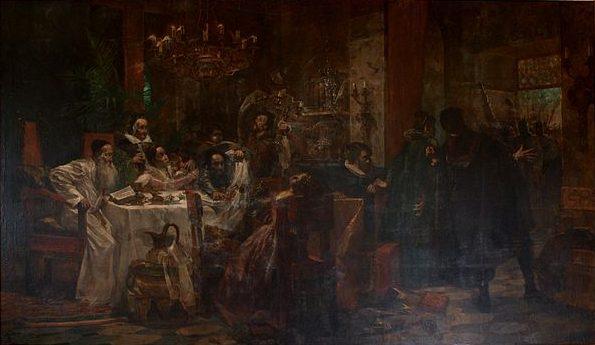 האם היה שלמה מלכו צאצא של משפחת אנוסים? זא כנראה לעולם לא נדע. מראנוס (אנוסים), שלמה מימון, שמן על בד, 1893