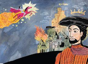שלמה מלכו, איור מאת אניה ליכטיקמן