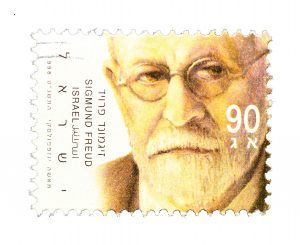 Portrait of Freud on an Israeli stamp issued in 2006