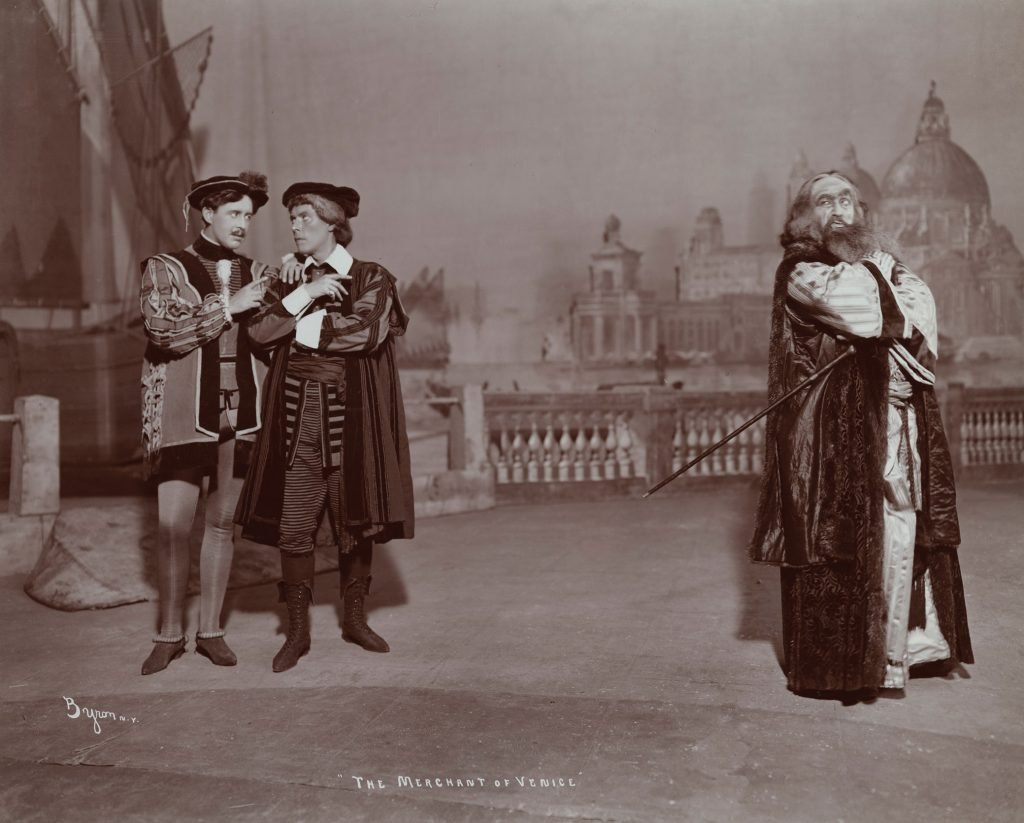 Jacob Adler as Shylock in a Yiddish production of The Merchant of Venice, 1903