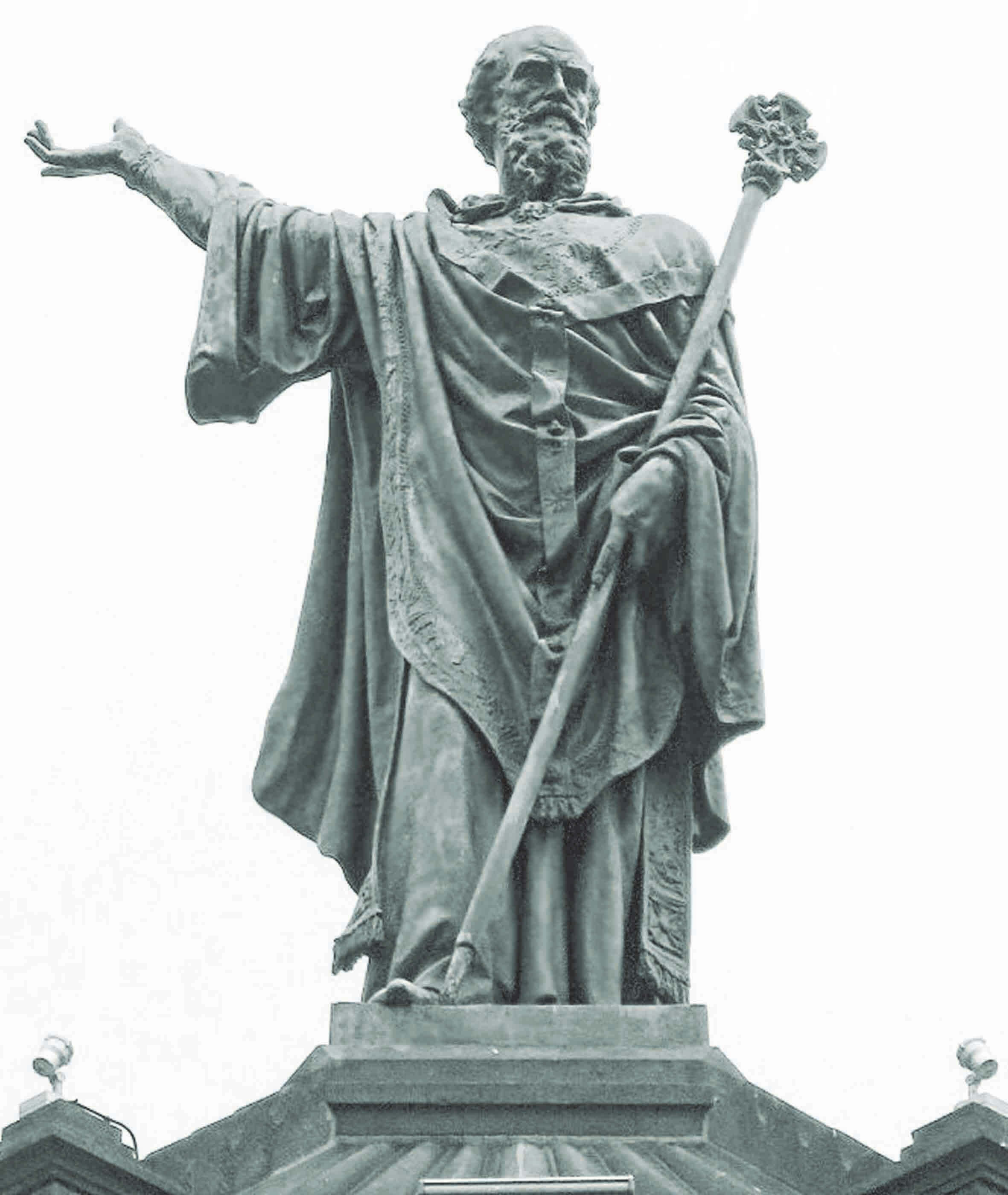 Statue of Pope Urban II in Clermont, France, where his call to arms against the infidel in the Holy Land launched the First Crusade