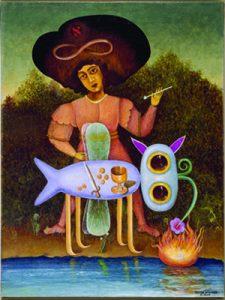 """הסוריאליסט שמן על בד, 60X45 ס""""מ פריז, 1947 אוסף פגי גוגנהיים, ונציה"""