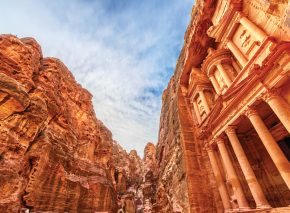 The classic façades carved out of Petra's red rock make it one of the most impressive man-made sites in the world
