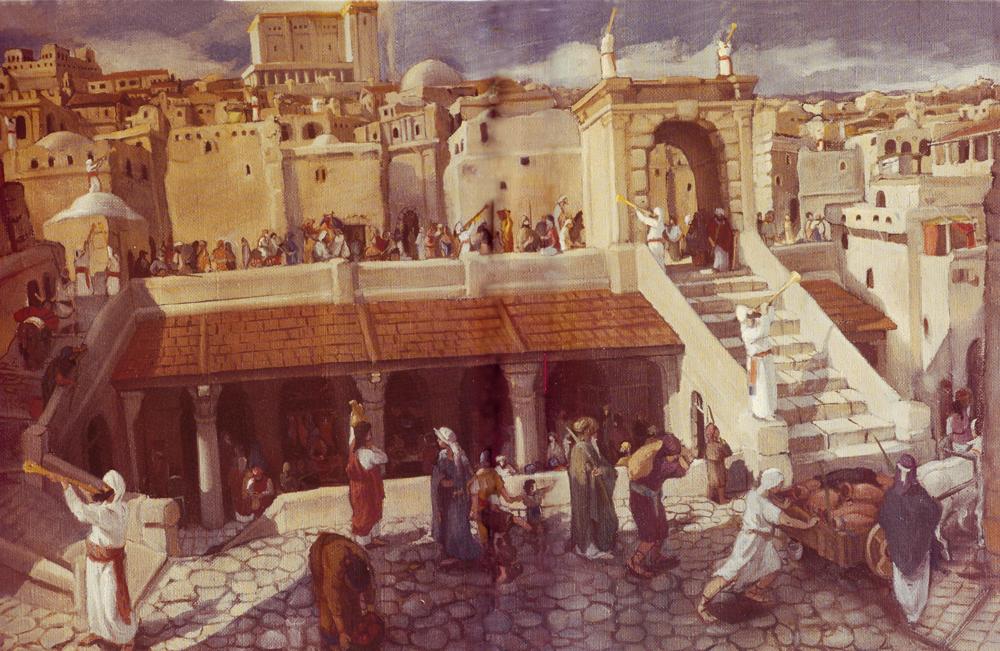 Pilgrims at Jerusalem