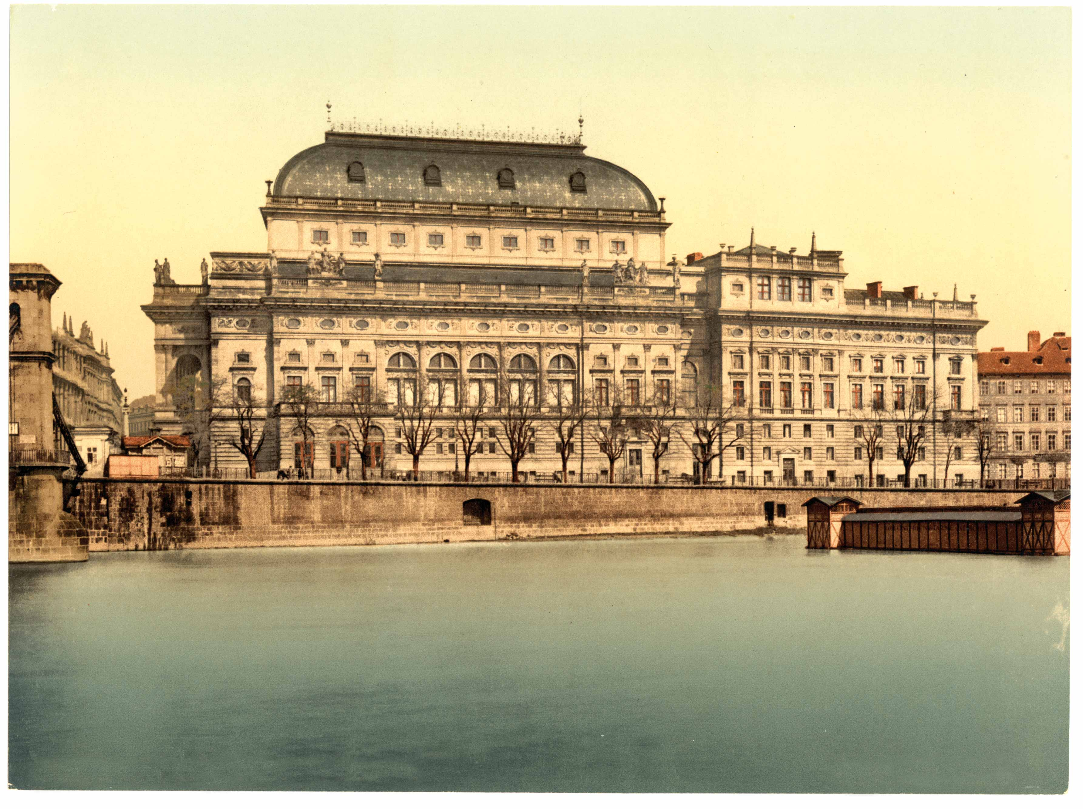 Kafka was an obsessive theatergoer, and the Prague of his youth was a cultural center. The National Theater, Prague, 1890