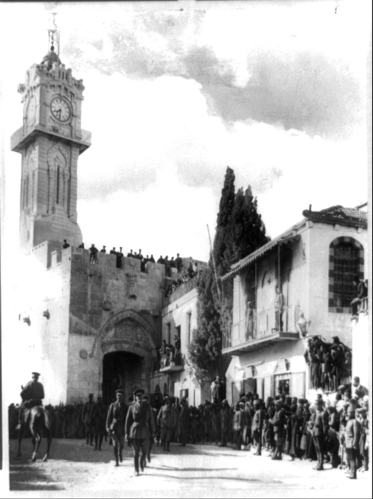 The spy ring's dream becomes reality. Allenby and his troops enter Jerusalem's Old City via Jaffa Gate to accept the city's surrender