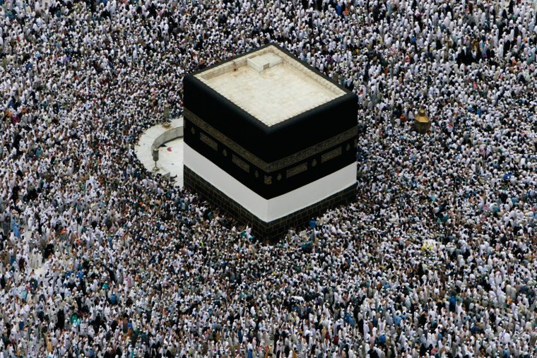 Pilgrims circling the Kaaba in Mecca, 2009
