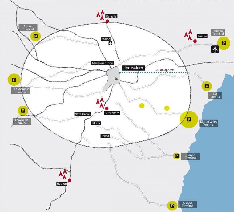 Proposed infrastructure for Jerusalem as a major pilgrim destination