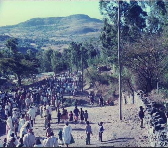 תמונות נדירות של תהלוכת הסיגד באתיופיה. במוקד הטקס המסורתי עמדה התהלוכה מהכפרים אל ראש ההר, שם קראו בתורה והתפללו