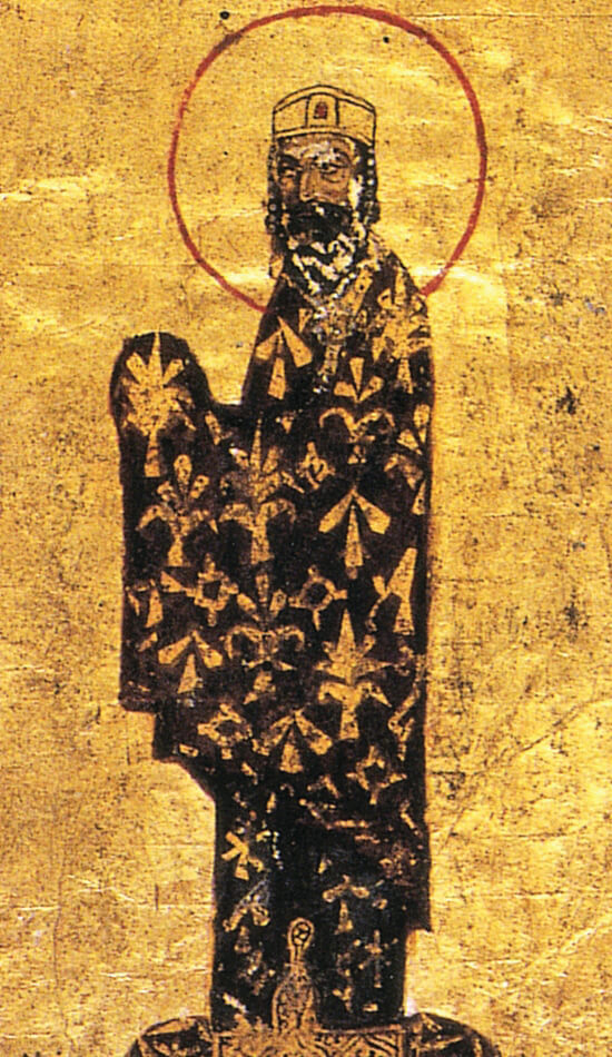 Alexius I couldn't restore his Byzantine Empire to its heyday, but his canny political and military maneuvering – including summoning Christendom to his aid against the Seljuks and Muhammadans – stabilized it in a particularly turbulent period. Alexius, illustration from an 11th-century Greek manuscript in the Vatican Library
