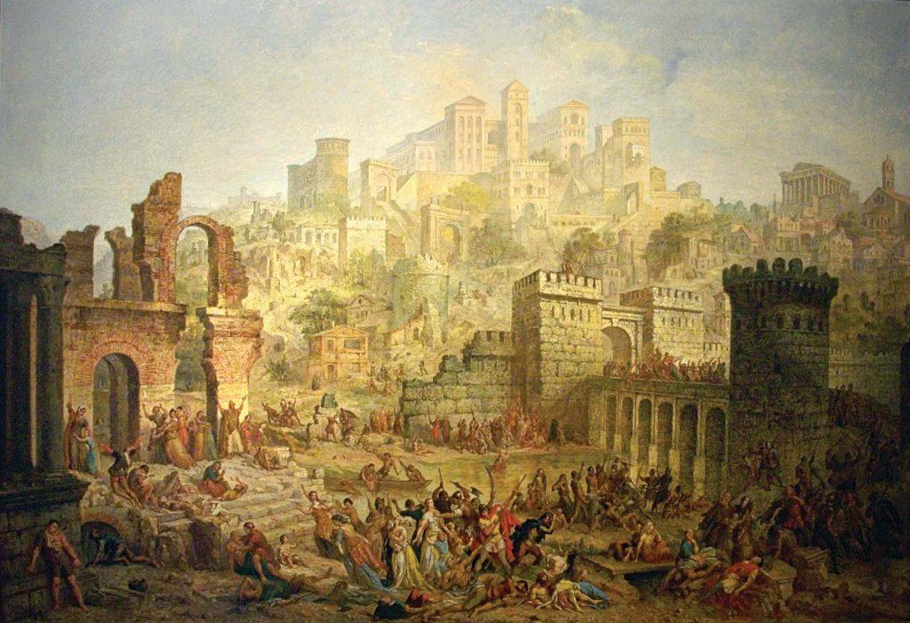 בין הקהילות היהודיות שבהן טבח אספסוף הצלבנים הייתה גם קהילת מץ. אוגוסט מיג'ט, הטבח ביהודי מץ, שמן על בד, המאה ה־19