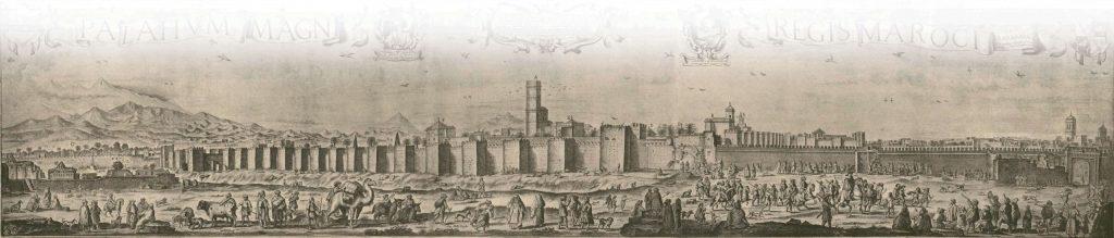 The El Badi Palace in Marrakesh, by Dutch artist Adriaen Matham, 1640