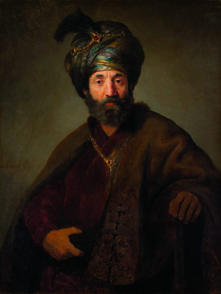 Samuel Pallache was well known in Amsterdam, city of Rembrandt. Some have therefore identified Pallache as the subject of the master׳s Man in Oriental Dress. However, though Rembrandt painted many Jews, he was born in 1606, making him only ten when Samuel died. Oil on canvas, 1634