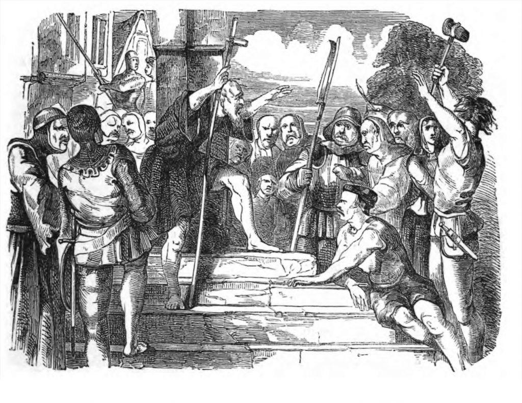 את מסע הצלב העממי הוביל פיטר הנזיר מהעיר אמיין שבצפון צרפת. הוא שלהב את ההמונים והיה אחד הגורמים הדומיננטיים בהפניית זעמם כלפי היהודים. פיטר הנזיר מטיף בפני הצלבנים. איור בתוך THE ILLUSTRATED LONDON READING BOOK שראה אור באנגליה ב־1851