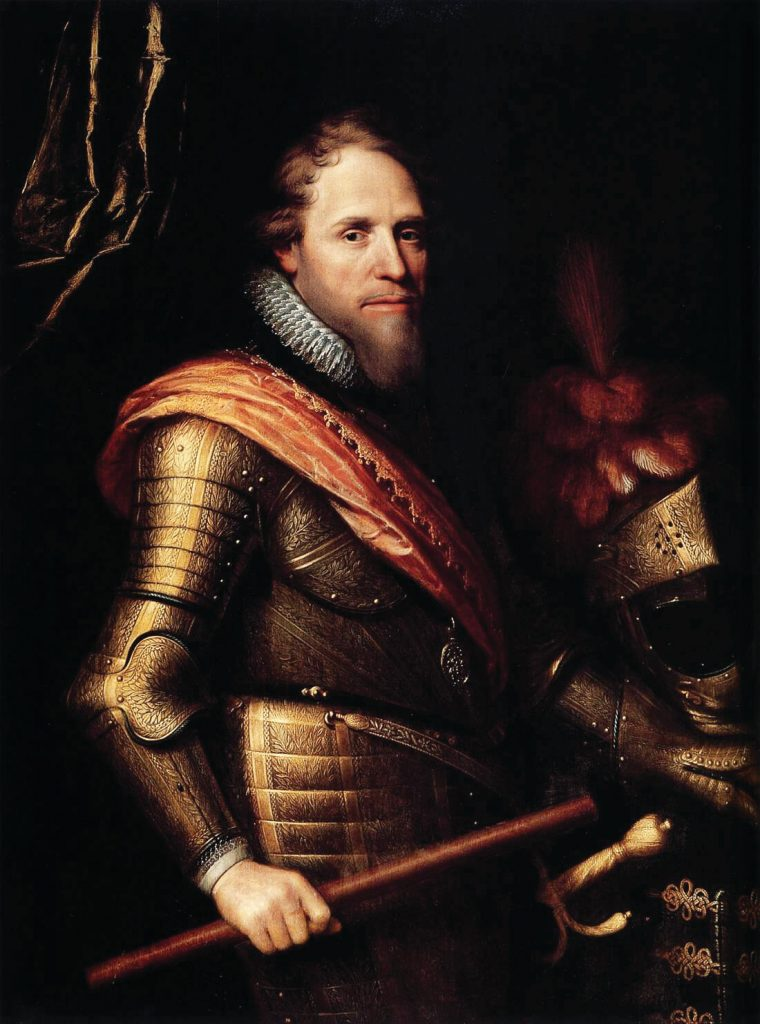 Portrait of Prince Maurice of Nassau, painted in his lifetime. Oil on canvas, 1607