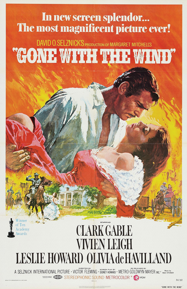 Unsung hero. Hecht penned most of the final script of Gone with the Wind, often considered Hollywood's greatest achievement. Yet his name appeared in neither the credits nor the ads, including this one from 1939