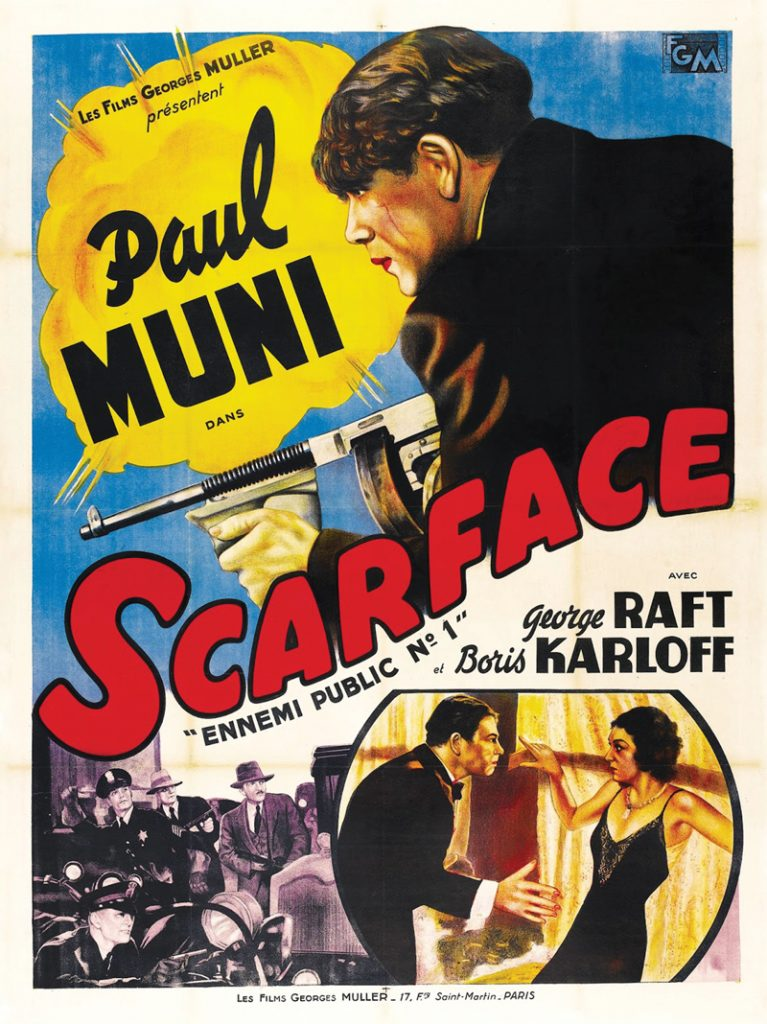 Scarface, for which Hecht won an Oscar in 1932, was inspired by the Chicago gangsters he'd covered as a cub reporter. Movie poster