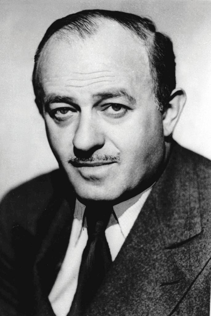An outstanding talent harnessed to the Zionist cause. Hecht in a publicity shoot for one of his films, 1949