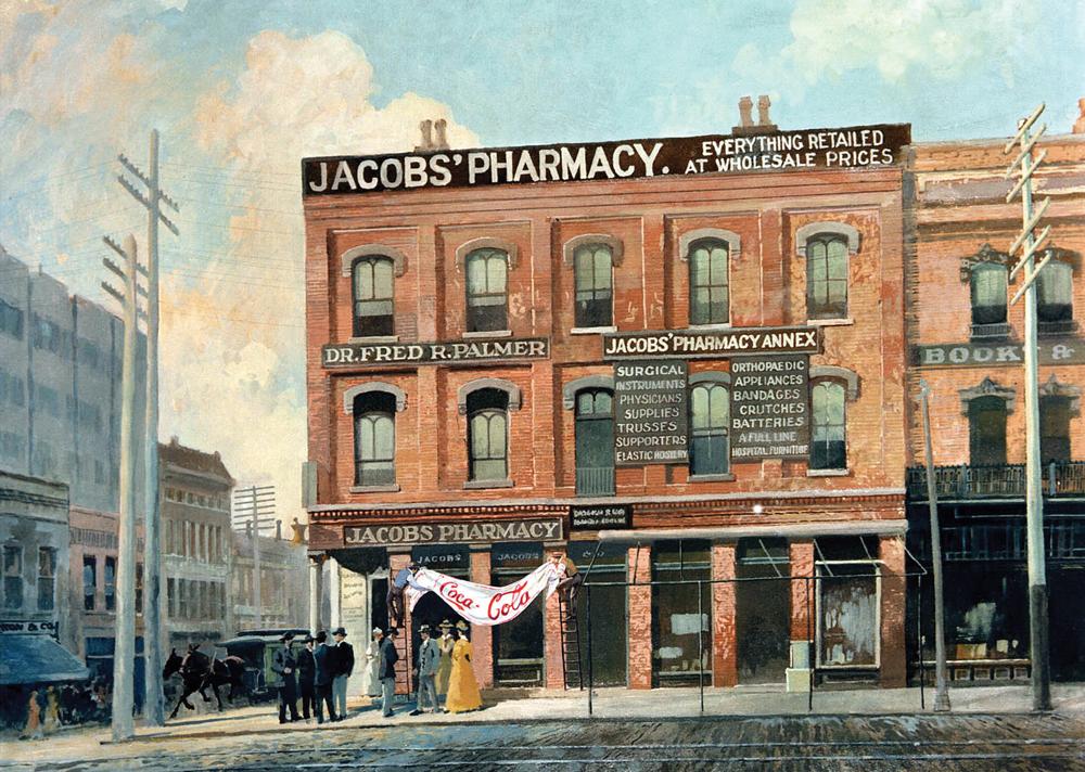 המקום שבו הכל התחיל. בית המרקחת של ג'ייקוב באטלנטה שבו ייצר פמברטון את הנוסחה הראשונית של קוקה קולה
