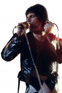Freddie Mercury, (born Farrokh Bulsara, 1946–1991) was the lead singer and songwriter for the British rock-group Queen