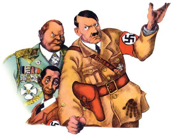 היטלר מתייעץ עם גרינג וגבלס