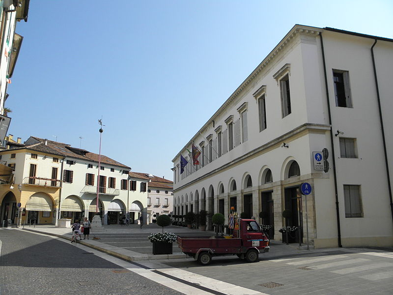 Piove di Sacco, where the first edition of the Tur was printed by Meshullam Kuzi, as it looks today