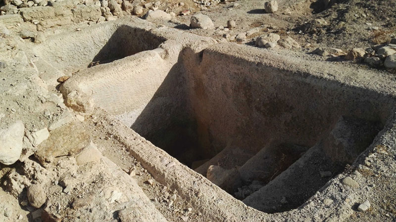 A ritual bath, evidence of Archelais' Jewish residents