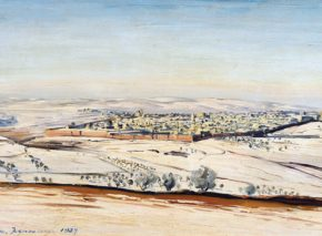 Jerusalem in Snow/ Ludwig Blum