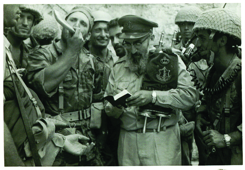 Blow your horn! Rabbi Goren's shofar blast at the Western Wall is etched deep in the Israeli consciousness, but in fact the first to blow the ram's horn there was battalion commander Eilam, a trumpet player