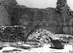 In its nineteen years under Jordanian rule, the Jewish Quarter changed beyond recognition. The Jordanians demolished its buildings, particularly those of historic Jewish significance. Even as they conquered the quarter in 1948, Jordanian soldiers planted explosives and destroyed the Hurva Synagogue. Abandoned furniture in the Hurva days after its liberation in 1967
