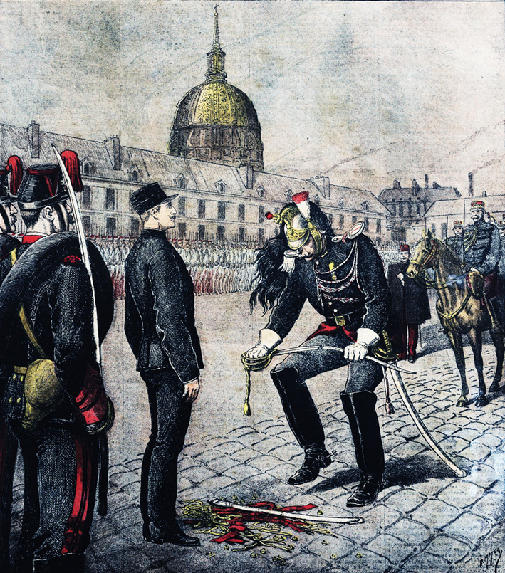 Accurately or not, the Dreyfus Affair has long been understood as catalyzing Herzl's Zionism. Le Petit Parisien illustration of Dreyfus being formally stripped of his military rank