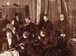 במת התאטרון שימשה את הרצל לבחינה נוקבת של ניסיונותיו להיטמע בתרבות האירופית. הסצנה האחרונה במחזה ׳הגטו החדש׳, 1898