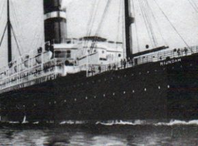 TSS Rijndam, Holland- America line. Most immigrants from Europe arrived in ships such as this one