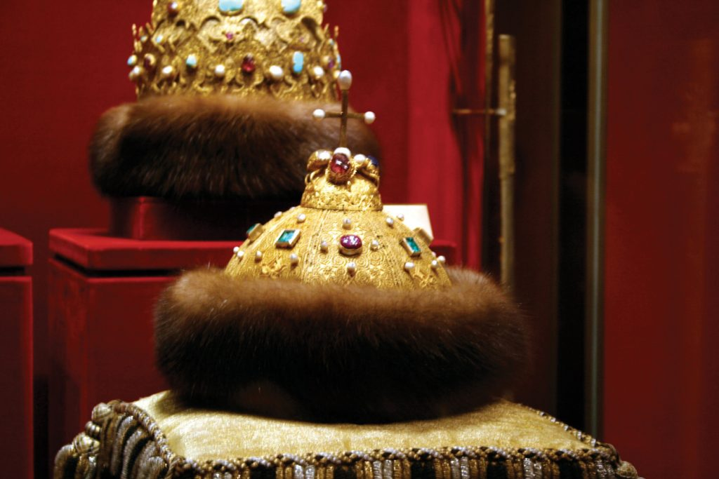 Regal Shreimel Monomakh's Cap crowned Russian Imperial royals from as early as 700 Photo: Ramon