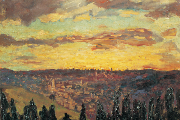 Churchill's painting of Mount Scopus, Jerusalem, 1921, oil on canvas,  Private collection, London