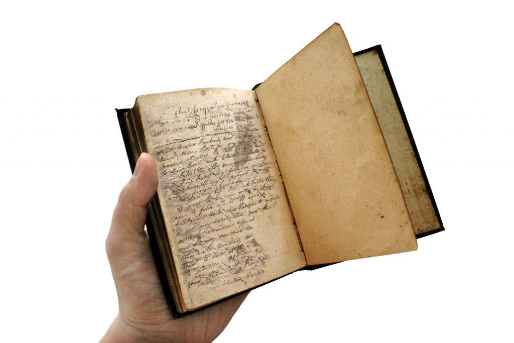 עמוד מתוך יומנה של קורה וילברן שבו הביעה חרטה על כך שהתנצרה ורצון לחזור למסורת אבותיה. רק 23 שנים מאוחר יותר שבה קורה לבסוף לחיק הקהילה היהודית באופן מלא